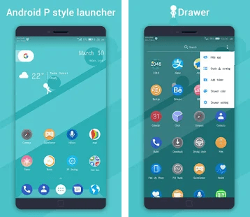 Pie Pi Launcher (PP Launcher, Android 9 0 P style) PRIME v1