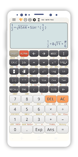 Fraction calculator 4in1: amazon. In: appstore for android.