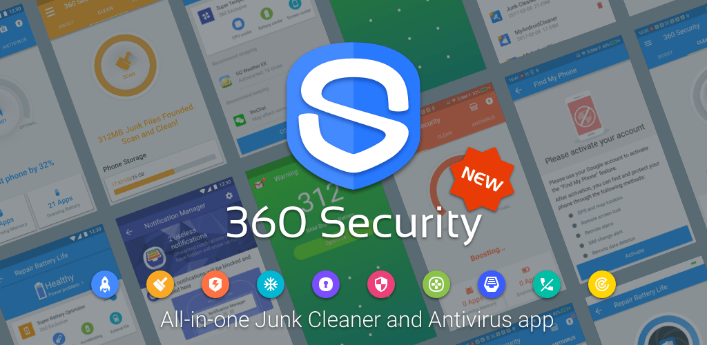 360 security free antivirus booster space cleaner