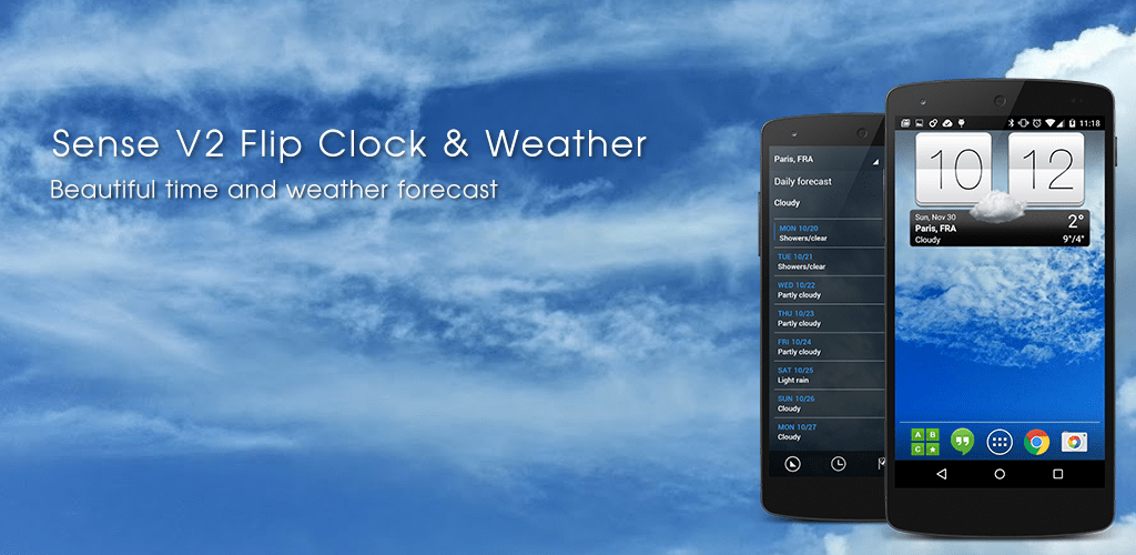 Sense V2 Flip Clock & Weather v5 10 06 (Premium) APK | ApkMagic