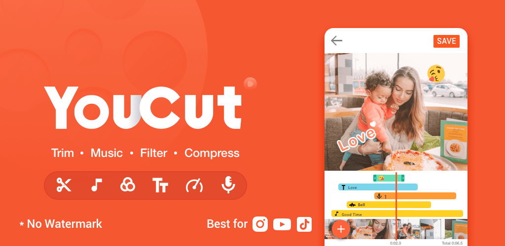 YouCut – Video Editor & Video Maker, No Watermark v1 312 76 (Pro