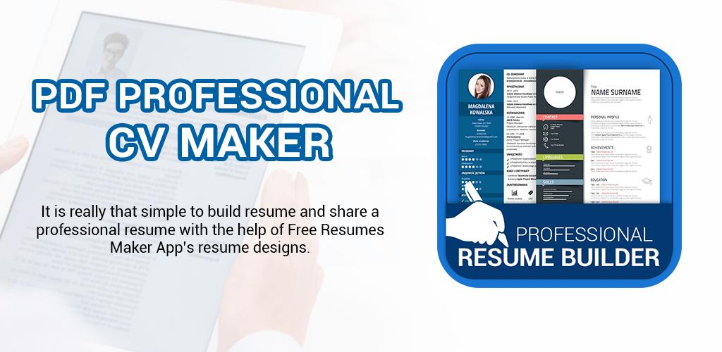 Professional Resume Maker Cv Builder Pdf Format V1 0 6 Pro Apk