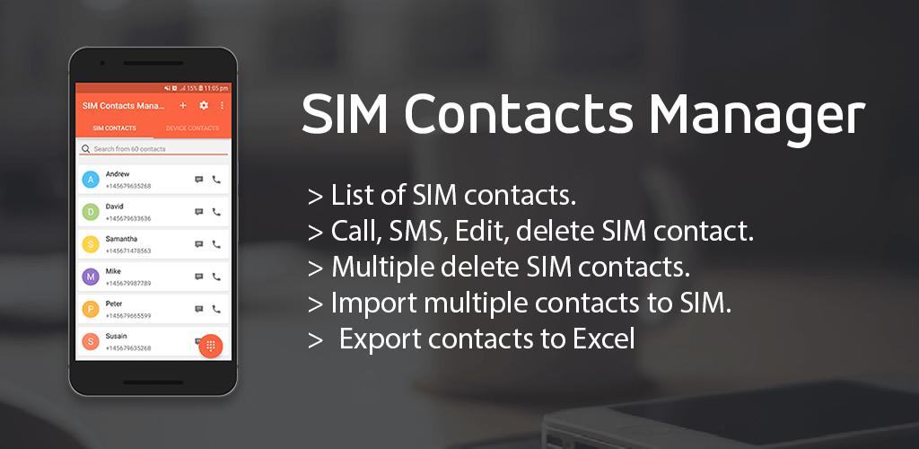 SIM Contacts Manager v1 1 6 (Ad Free) APK   ApkMagic
