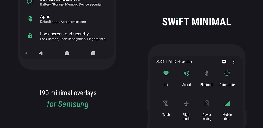 Swift Minimal for Samsung – Substratum Theme v27 6 (Patched