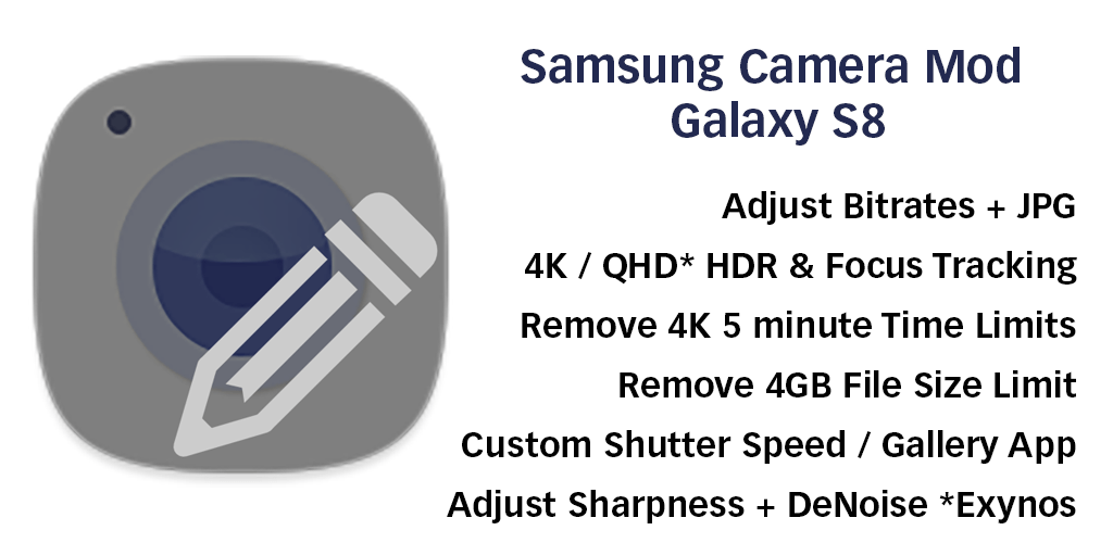 Camera Mod S8 – Bitrate & Settings [ROOT] v2 44 APK | ApkMagic