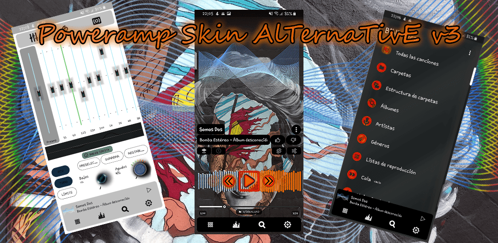 Poweramp Skin v3 Alternative v1 (Paid) APK | ApkMagic