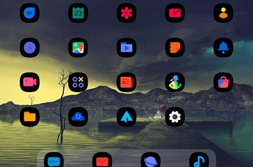 OneUI Black – Icon Pack v1 2 [Patched] | ApkMagic