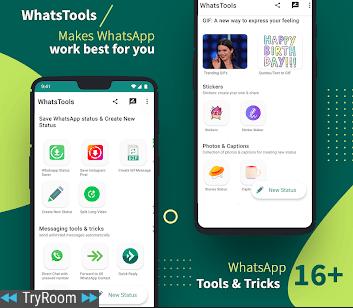 Whatstools Status Saver Chat Trick 16 Tools V166