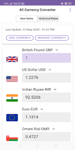 Money Exchange Rates V0