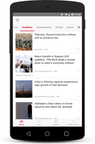 Dailyhunt - 100% Indian App for News and Videos v16.2.7 [AdFree]