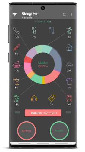 Monefy Pro - Budget Manager and Expense Tracker v1.9.13 b1162 [Paid]