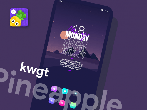 Pineapple KWGT v3.3 [Paid]