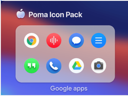 Poma Big Sur Round Icon Pack v2.1.0 (Patched) APK Download